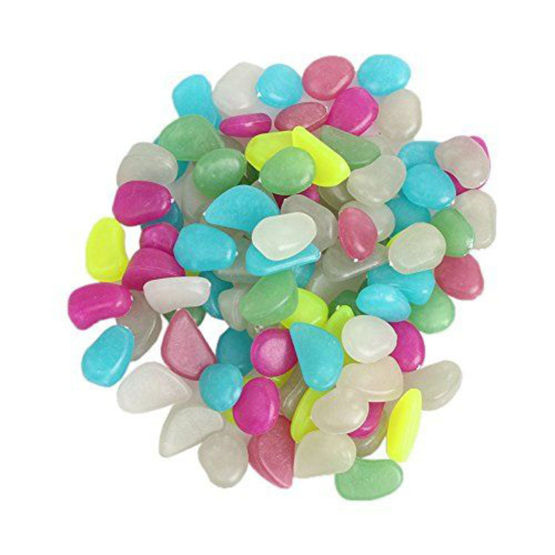 uminous Pebbles Stone Aquarium Fish Tank Decoration Accessories:50pcs Glow In The Dark Artificial