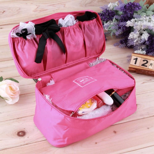 Waterproof Women Girl Lady Portable Travel Bra Underwear Lingerie Organizer Bag Cosmetic Makeup Toiletry Wash Storage case
