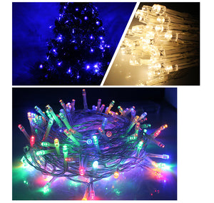 10M 100 Led String Garland Christmas Tree Fairy Light Luce Waterproof Home Garden Party Holiday Decoration for Outdoor