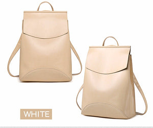 Fashion Women Backpack Youth Leather Backpacks for Teenage Girls Female School Shoulder Bag Bagpack mochila