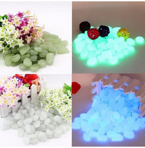 Luminous Pebbles Stone Aquarium Fish Tank Decoration Accessories