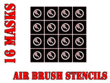 Star Wars X-Wing Inferno Squadron Symbol Airbrush Paint Mask / Stencil