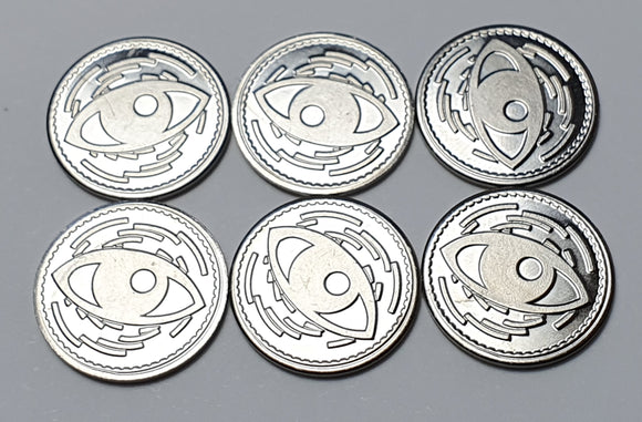 Promo Metal Focus Tokens x6