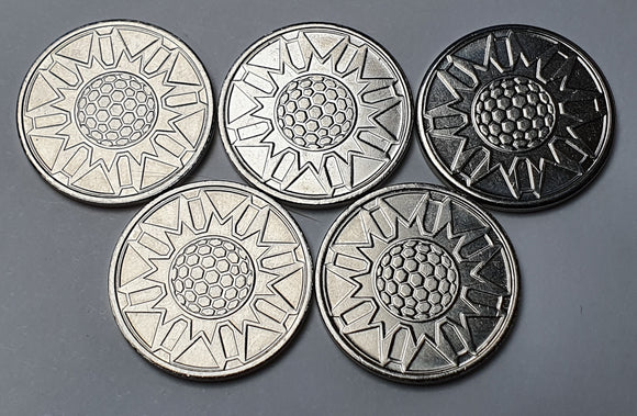 Promo Metal Shield Tokens x5