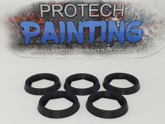 Base Adapter Rings 25mm to 32mm Warhammer 40K Age Of Sigmar Effortless Upgrade (Black)