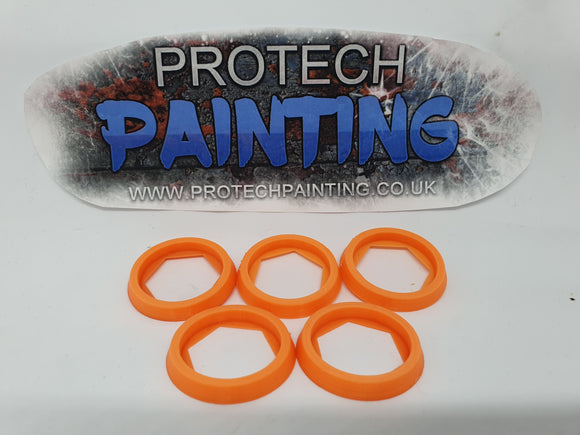 Base Adapter Rings 25mm to 32mm Warhammer 40K Age Of Sigmar Effortless Upgrade (Orange)