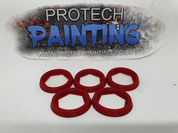 Base Adapter Rings 25mm to 32mm Warhammer 40K Age Of Sigmar Effortless Upgrade (RED)