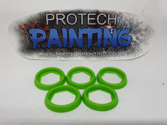 Base Adapter Rings 25mm to 32mm Warhammer 40K Age Of Sigmar Effortless Upgrade (Green)