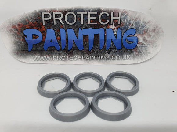 Base Adapter Rings 25mm to 32mm Warhammer 40K Age Of Sigmar Effortless Upgrade (Silver)
