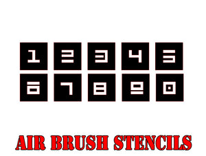 Star Wars X-Wing Aurebesh Numerics Airbrush Paint Mask / Stencil Set