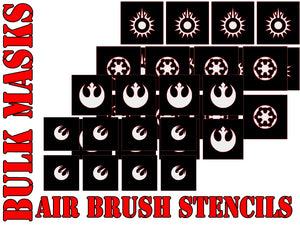 Star Wars X-Wing Bulk Pack Symbol Airbrush Paint Mask / Stencil