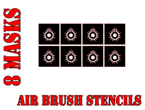 Star Wars X-Wing Black Sun Symbol Airbrush Paint Mask / Stencil