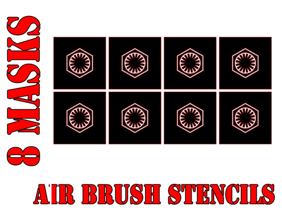Star Wars X-Wing First Order Symbol Airbrush Paint Mask / Stencil