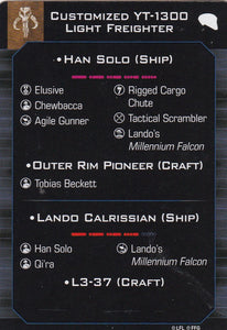 Customized YT-1300 Light Freighter - L3-37