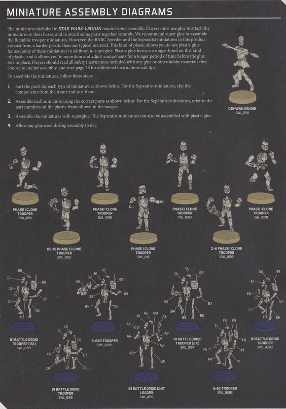 B1 Battle Droids  Instructions