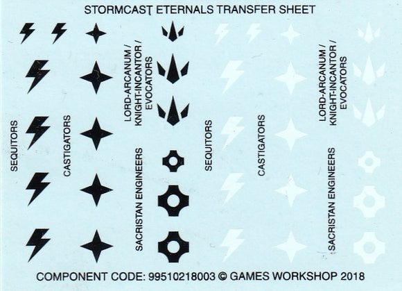 Stormcast Eternals Transfer Sheet