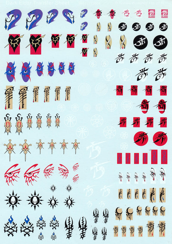 Dark Eldar tansfer Sheet