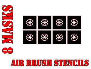 Star Wars X-Wing Imperial Symbol Airbrush Paint Mask / Stencil