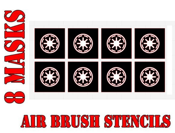 Star Wars X-Wing Republic Symbol Airbrush Paint Mask / Stencil