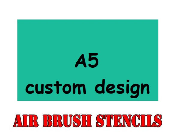 A6 / A5 / A4 Custom Design Mask Sheet (Please contact us for details