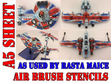 Star Wars X-Wing Miniatures Airbrush Paint Masks - Rasta Jacks as used By Rasta Maice