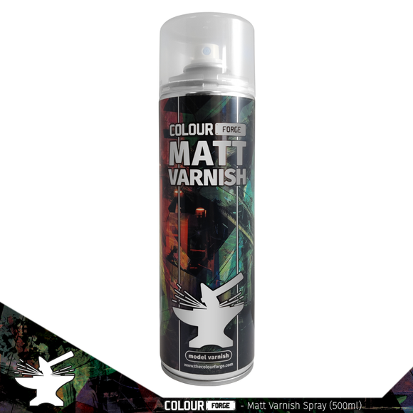 Colour Forge Matt Varnish Spray (500ml) COLLECTION ONLY
