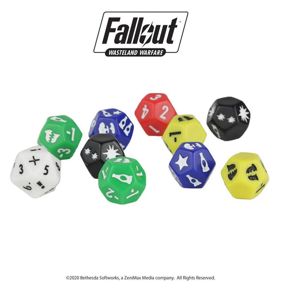 Fallout: Wasteland Warfare - Extra Tabletop Dice Set