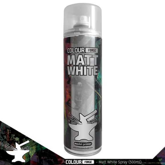 Colour Forge Matt White Spray (500ml) COLLECTION ONLY