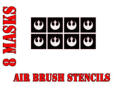 Star Wars X-Wing Rebel Symbol Airbrush Paint Mask / Stencil