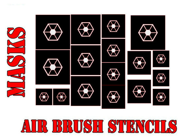 Star Wars X-Wing CIS / Seperatists Symbol Airbrush Paint Mask / Stencil