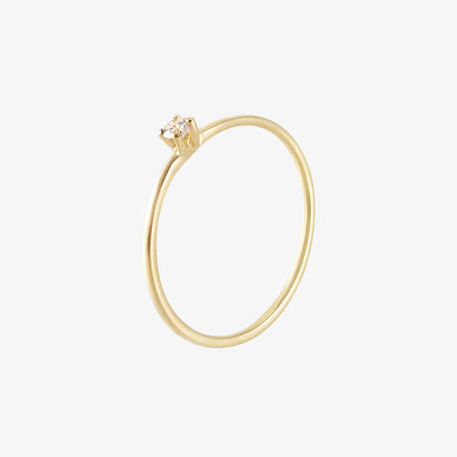 Diamond Sky Drop Ring Gold