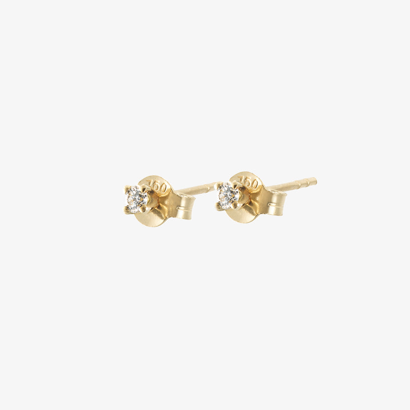 Diamond Sky Drop Studs Gold