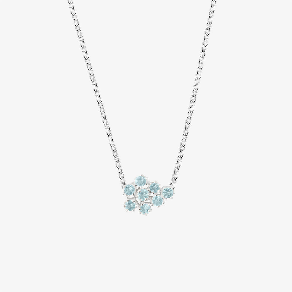 Frost Single Necklace Blue Topaz