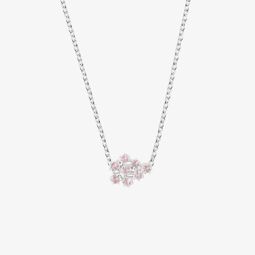 Frost Single Necklace Rose Quartz