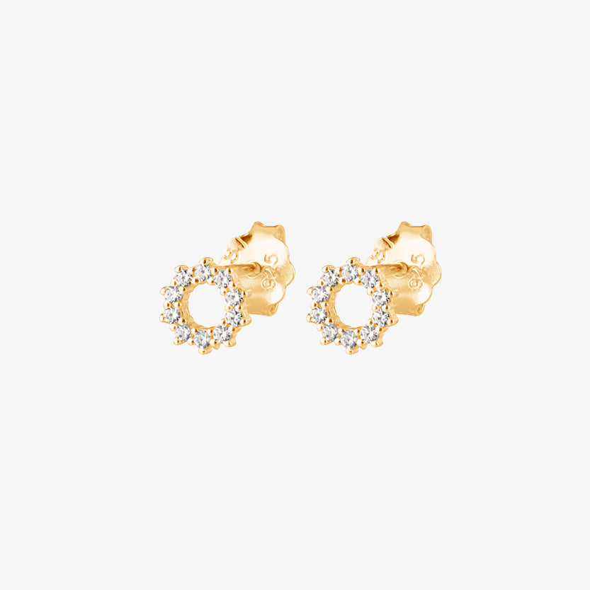 Infinity Drop Studs Gold
