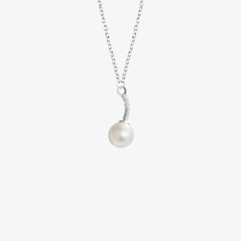 Le Pearl Single Necklace Diamonds