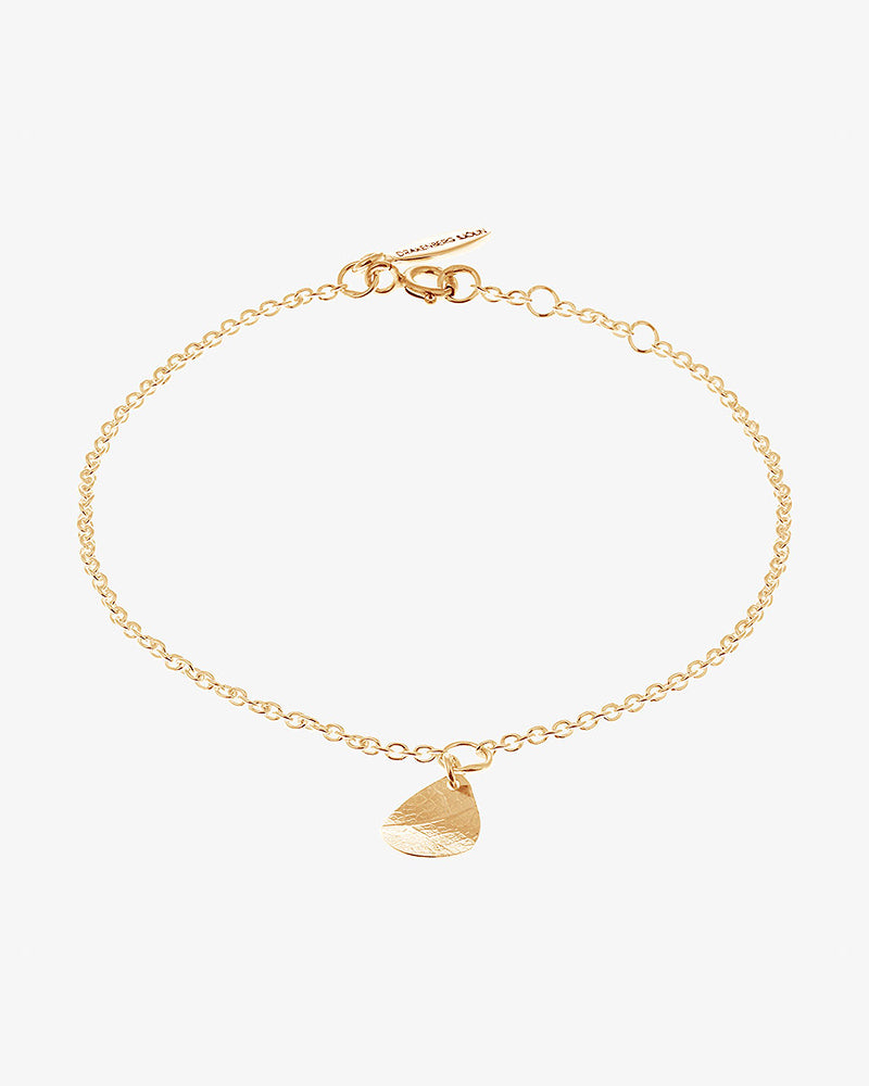 Leaf Drop Bracelet Gold