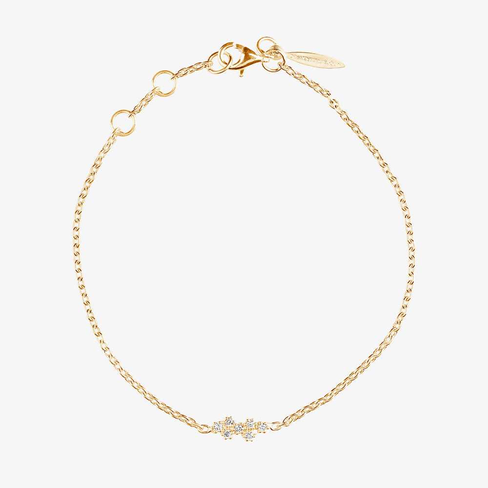 Milky Way Drop Bracelet Gold