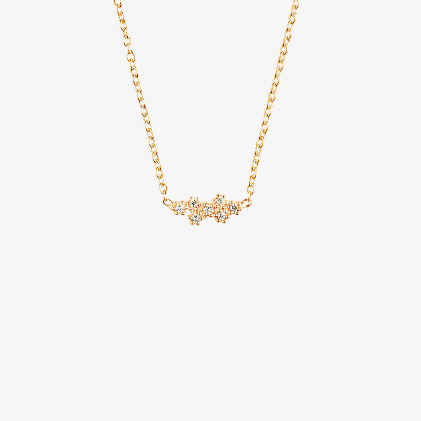 Milky Way Drop Necklace Gold