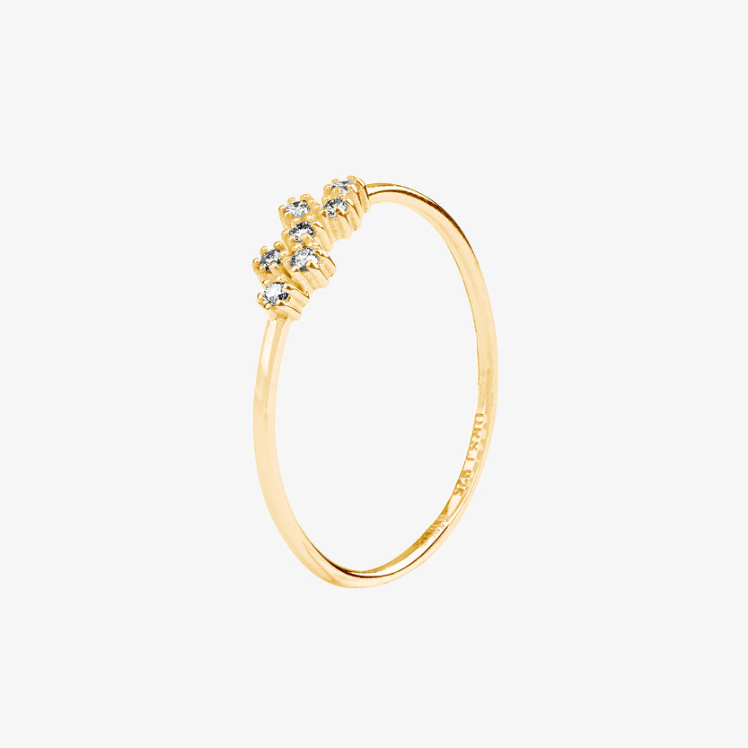 Milky Way Drop Ring Gold