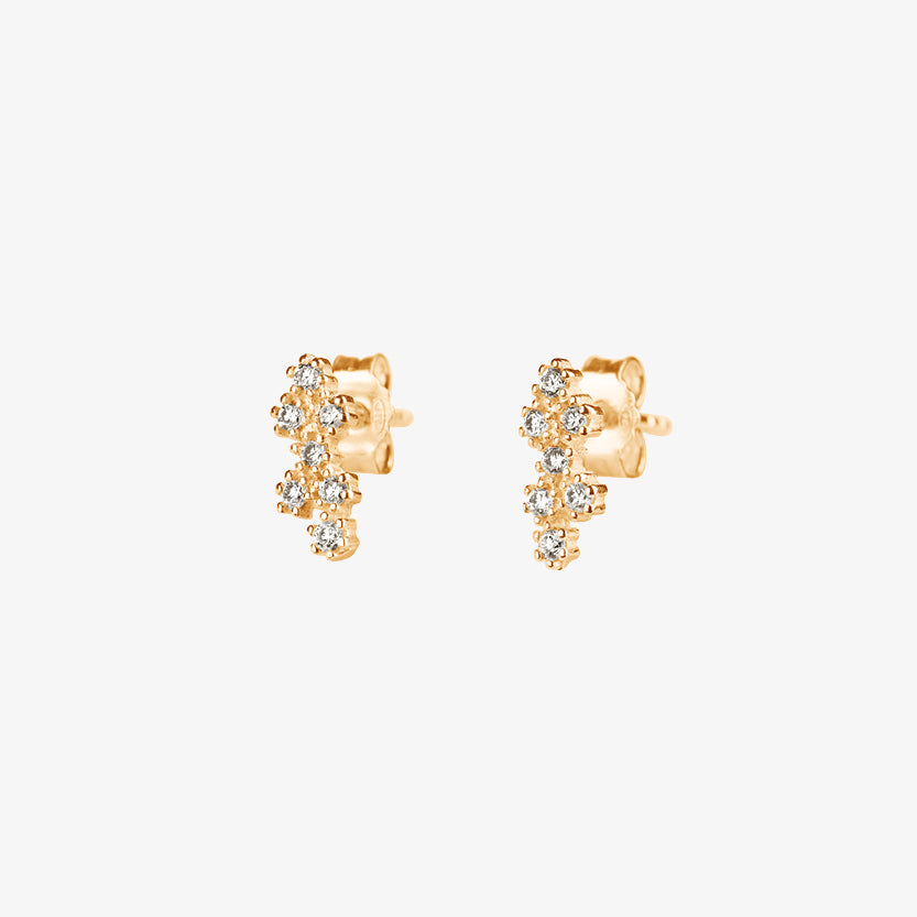 Milky Way Drop Studs Gold