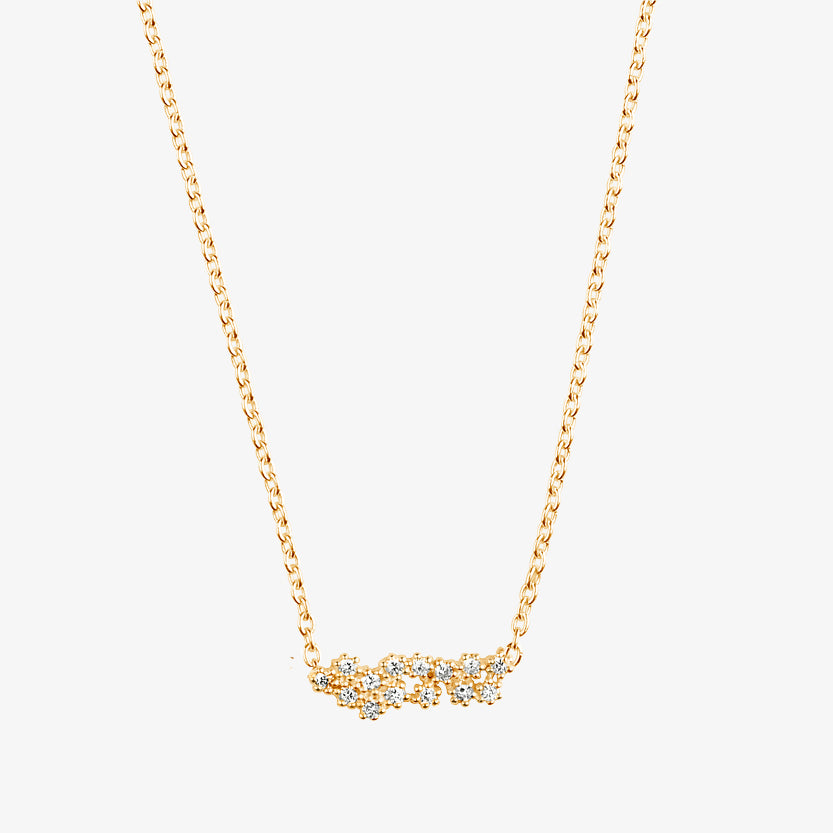Milky Way Single Necklace Long Gold