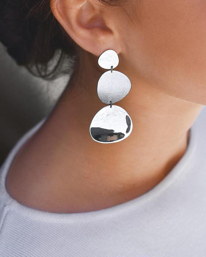 Moon Garden Big Earrings
