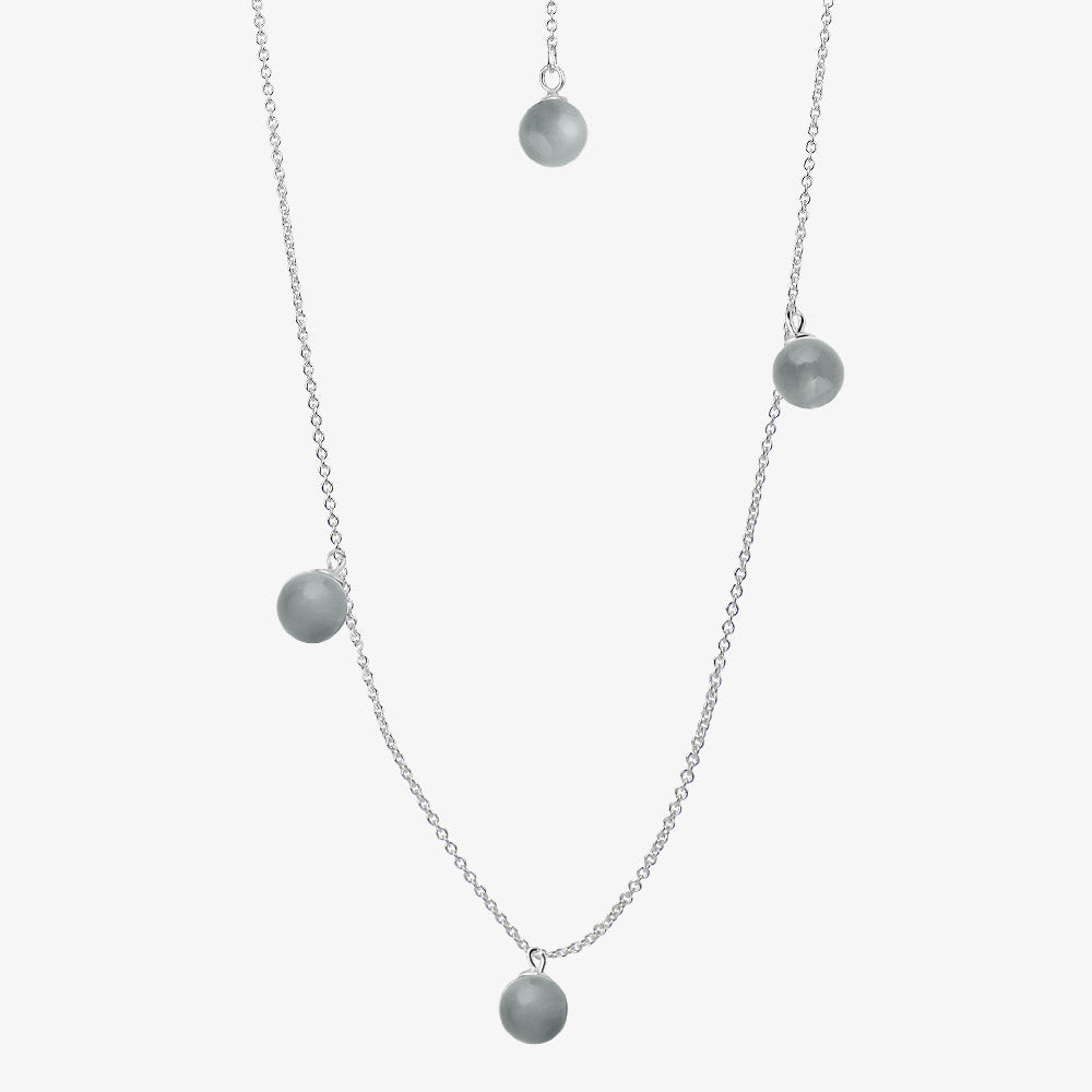 Moon Necklace Long Smokey