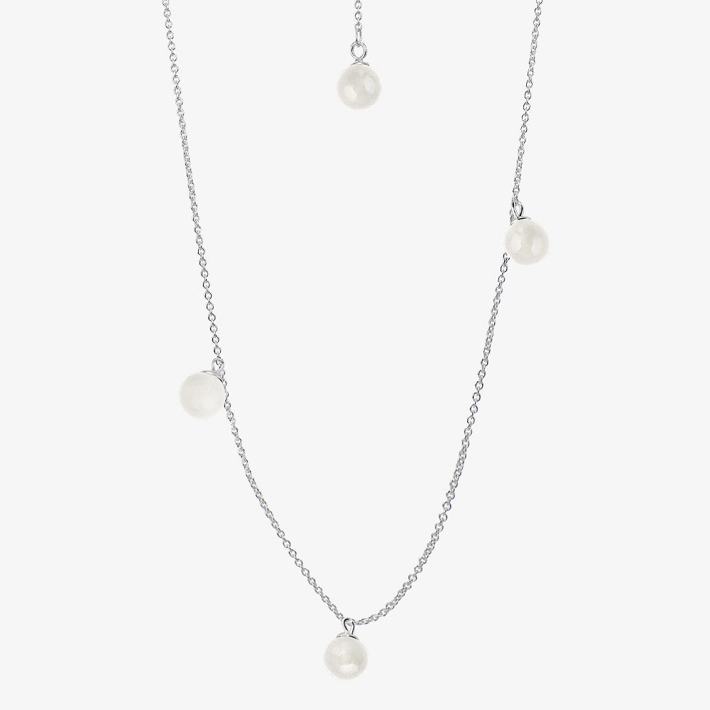 Moon Necklace Long White