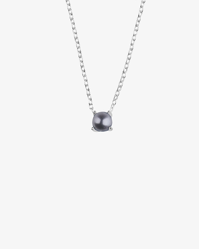 Petite Pearl Midnight Necklace