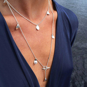 Rain Drop Necklace Long