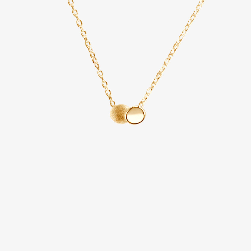 Rocky Shore Drop Necklace Gold