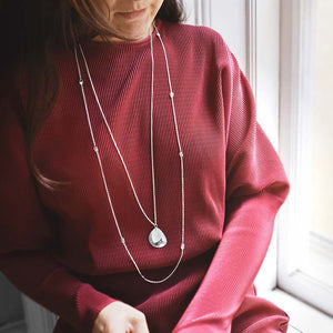 Rocky Shore Drop Necklace Long