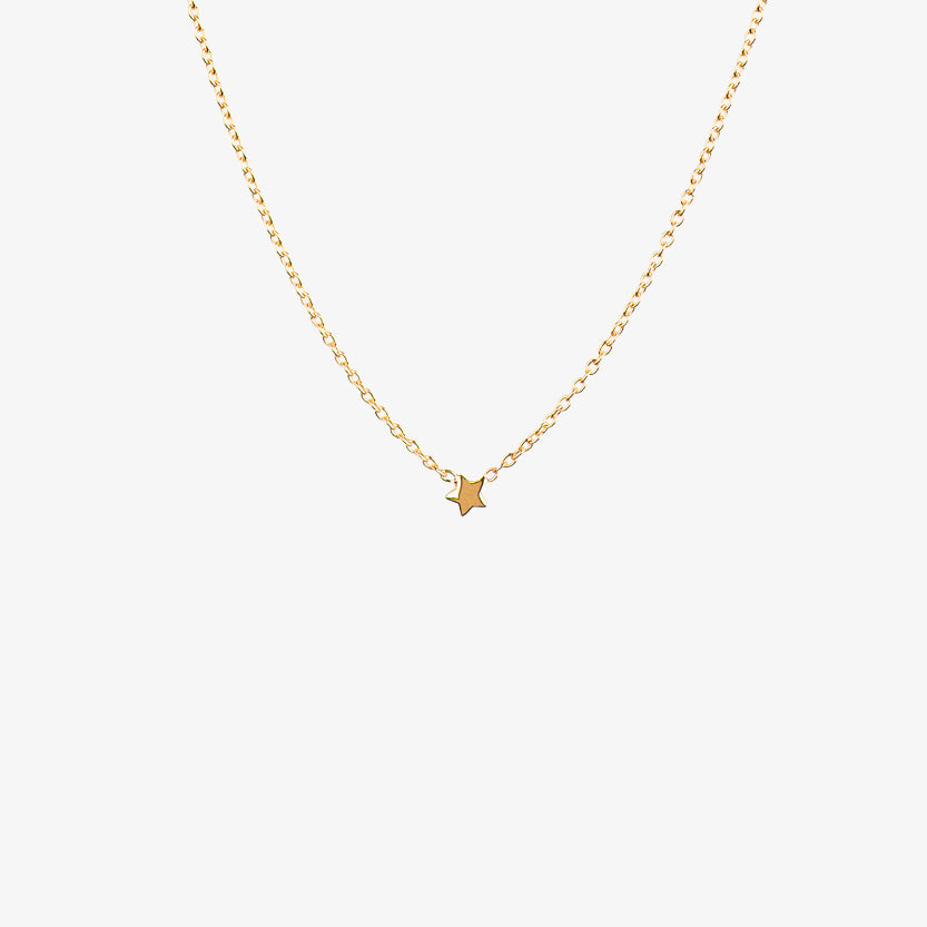 Stella Nova Drop Necklace Gold